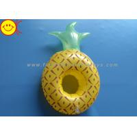 China Pineapple Inflatable Pool Floats / Pool Toy Drink Holder 0.15mm Thickness wholesale