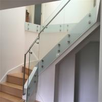 High quality glass balustrade with standoff and handrail for staircase Manufactures