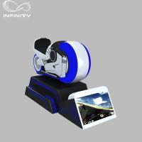 1 Person Online Race 9D VR Motorcycle Car Driving Simulator Black Or White Color Manufactures