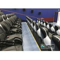 Exciting 5D Cinema Equipment , 5D Luxury Motion Seats With Vibration Effect In Mall Manufactures