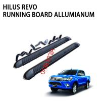 China Steel Alloy Car Side Black Truck Step Bars Decoration Accessories For 2015 Toyota Hilux Revo on sale