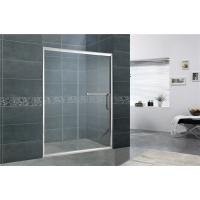 Aluminum Alloy Bathroom Shower Screens Tempered Glass Moving Door for Home / Hotel Manufactures