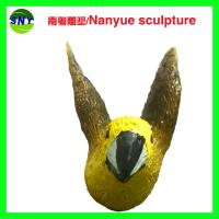 China customize size animal fiberglass statue large  yellow bird model as decoration statue in garden /square / shop/ mall wholesale