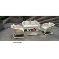 China 4pcs Rattan  furniture outdoor flower weave pattern wicker sofa set with cushion-9019 on sale