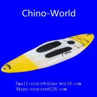 Yellow white surf board Manufactures