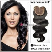 1B# Silky Swiss Lace Top Closure , Girls Full Head Human Hair Clip In Manufactures
