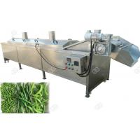 High Efficiency Meat / Vegetable  Blanching Machine Processing Equipment Manufactures