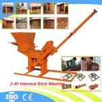 Manual Clay Brick Pressing Machine 2-40 Soil Cement Interlocking Block Making Machine Manufactures