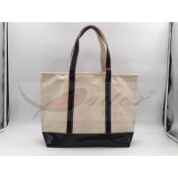 Beige Canvas Washable Tote Bag , Personalized Canvas Tote Bags 32*29.5*13.5 Cm Manufactures