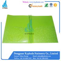 Buy cheap A4 Green 3 prongs file folders with pockets inside from wholesalers