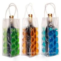 Reusable 750ML PVC Wine Chiller Bag With FDA Grade Chilling Gel And Tube Handles Manufactures