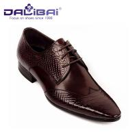 Mens Leather Dress Shoes Italian Casual Formal Work Shoes With Pointed Toe Manufactures