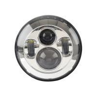 Black Frame Motorcycle Jeep Wrangler Headlights with High / Low Beam 6000K Manufactures