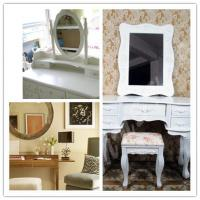 White Oval Silver Mirror Glass  Manufactures