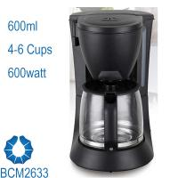 China 5-Cup Drip Coffee Maker stream line design in black BCM2633 on sale