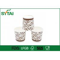 10 / 16 Oz Orange Printing insulated paper coffee cups Simple Design Impermeability Manufactures