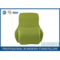 Deluxe Filling Ventilated Foam Car Neck Pillow and Memory Foam Back Support Cushion With Adjustable Strap Manufactures