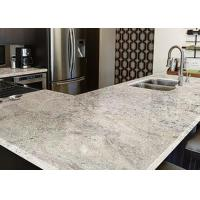 White Marble Granite Kitchen Worktops Brown Stripes With Sink  Manufactures