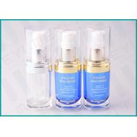 China 20 ML Oval Shape PMMA Acrylic Lotion Pump Bottle For Cosmetic Essence on sale