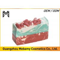 Pure Natural Organic Handmade Soap , Red Rose Gessential Oil Bar Soap Moisturizing Manufactures