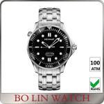 Classic Matt Men'S Automatic Dive Watches , Custom Logo Stainless Steel Swiss Watch Manufactures