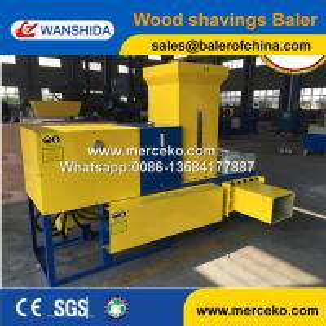 China Wanshida High quality of hydraulic wood shavings baler press machine on sale