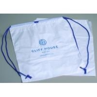 Biodegradable drawstring laundry poly bag with printing,Logo Printed Poly Drawstring Hotel/Travel Laundry Plastic bag Manufactures