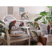 Retro vintage style custom animal print cushion,parrot myna bird print with letter cushion Manufactures