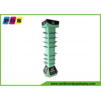 Retail POP Rotating Cardboard Peg Display For Bamboo Clothing And Eco Wear HD010 Manufactures