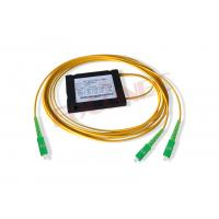 Cassette Type Optical Fiber Splitter , Single / Dual Window FBT Fused 1x2 Coupler Manufactures