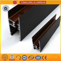 Customized Hollow Wood Finish Aluminum Window Frame Extrusions Manufactures