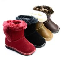 Hot selling genuine leather children boots for winter  PB-6072 Manufactures