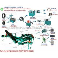 China Crumb Rubber Tyre Recycling Machine/Rubber Tyre Strip Cutter/Rubber Powder Making Line on sale