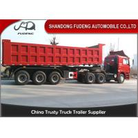 China 196 Hydraulic System Dump Semi Trailer 80 Ton Payload Customized Dimension on sale