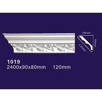 Factory Price PU decoration molding Curved Roof Cornice Product 1019