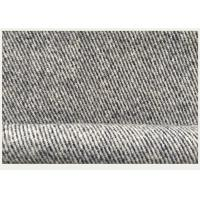 Lightweight Tweed Gray Twill Wool Fabric For Long Winter Women'S Coats Manufactures