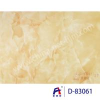 Blue Sky Wear Resistance PVC Decorative Film , Pvc Ceiling Film Simulation Of Marble Manufactures