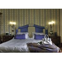Royal Fancy Hotel Bedroom Furniture Sets With Fabric Upholstery Headboard Manufactures