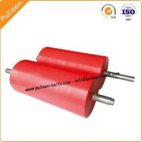 Polyurethane Conveyor Rollers Caster rollers Wear Resistance PU Roller with Aluminum Core Manufactures