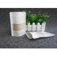 Eco Friendly White Kraft Paper Bags , Excellent Gas Barrier Kraft Paper Resealable Bags Manufactures
