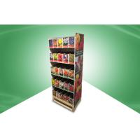 Home Five Shelf Pos Cardboard Displays , Recyclable Floor Standing Display Units Manufactures