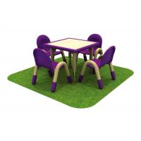 China Square Children Table And Chairs Solid Wood For Amusement Park on sale