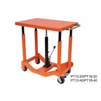 China Foot Pump Hydraulic Post Table Post Lift Table 910Kg 2000 Lb Load Capacity on sale