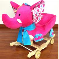 Lovely Pink Green Animal Baby Rocking Chair Toy Elephent Eco - Friendly 60*33*55cm SGS ITS Manufactures