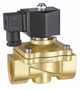 24VDC Brass Electric Water Solenoid Valve 2 Way Zero Differential Pressure Manufactures