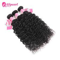 Unprocessed Indian Virgin Hair Bundles , Natural Wave Remy Human Hair Weave Deals Manufactures