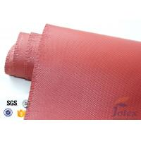"Red Silicone Coated Fiberglass Fabric Engine Thermal Insulation 1mm 30oz 39"" Manufactures"