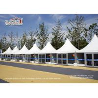 High Security Pagoda A Shape Sport Event Tents With Glass Sidewall Manufactures
