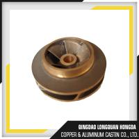 Size Customized Brass Machined Parts, Water Pump Brass Impeller For Boats Manufactures