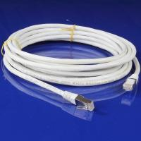White Copper CAT6A Patch Cable / CAT6A FTP Patch Cord with PVC Jacket Manufactures